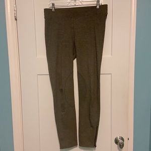 Cabi Brown Ponte Ankle Zip Legging Riding Pants